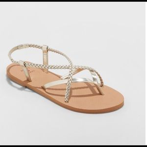 Women's Sandals with Gold Straps